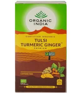 Bilde av Organic India Tulsi Turmeric Ginger Tea 25 poser