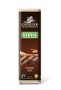 Bilde av Cavalier Stevia Melkesjokolade bar med karamellfyll 40 g