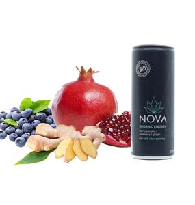 Bilde av Nova Organic Energy Pomegranate Blueberry Ginger 250ml