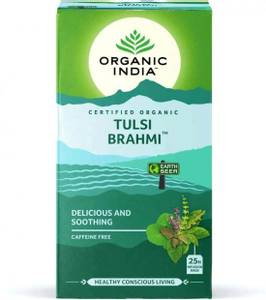Bilde av Organic India Tulsi Brahmi Tea 25 poser