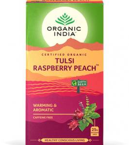 Bilde av Organic India Tulsi Raspberry Peach Tea 25 poser
