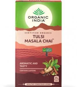Bilde av Organic India Tulsi Masala Chai Tea 25 poser