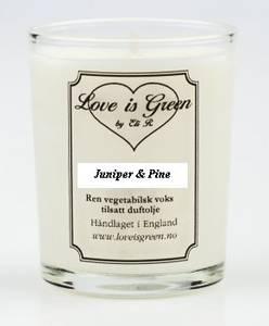 Bilde av Love is Green Duftlys Juniper & Pine