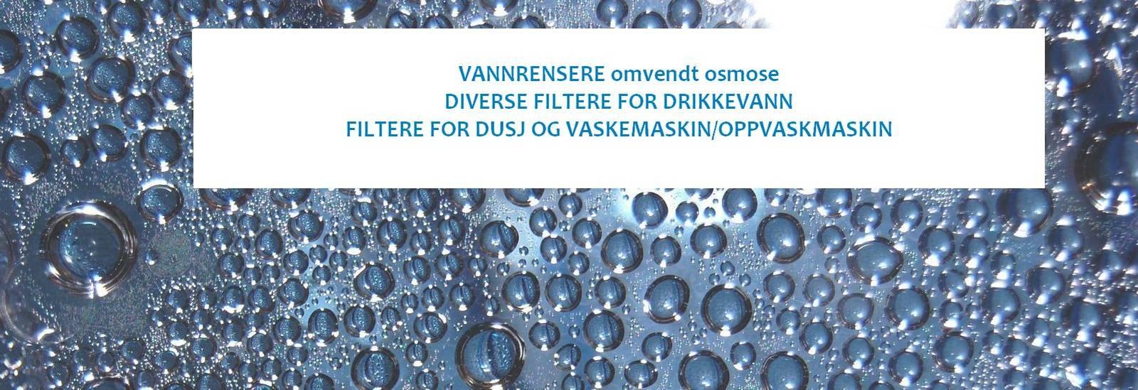 drikkevann vannfiltere renset vann dusjfiltere