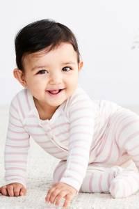 Bilde av Baby Heldress bambus striper