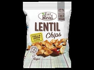Bilde av Eat real Linse chips chilli & lemon 40g