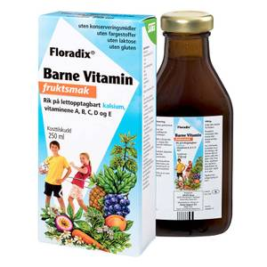 Bilde av Floradix Barne Multivitamin med fruktsmak 250 ml