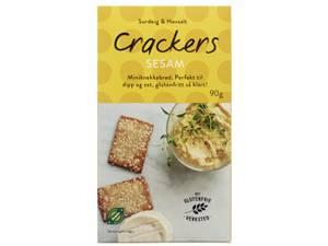 Bilde av Det Glutenfrie Verksted cracker m/sesam 90g