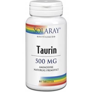 Bilde av Solaray Taurin 500 mg 60 tbl