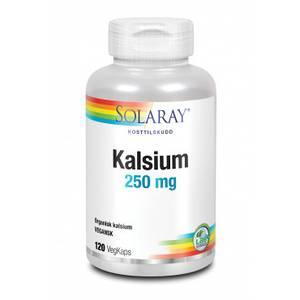 Bilde av Solaray Kalsium 250 mg 120 kaps.