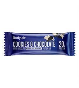 Bilde av Bodylab proteinbar cookies og hvit sjokolade.65 g