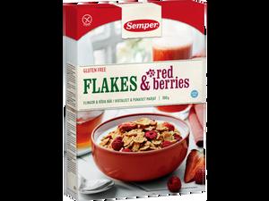 Bilde av Semper flakes & red berries 300g