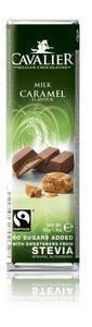 Bilde av Cavalier bar melk/karamell med steviol 40 gram