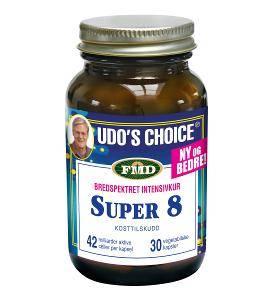 Bilde av Udos melkesyrebakterie super 8. 30 kapsler