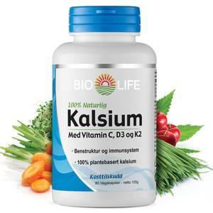 Bilde av Bio Life Kalsium med C-D3-K2 90 kaps