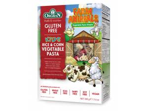 Bilde av ORGRAN Kids Farm Animals Ris og Mais Pasta 200g