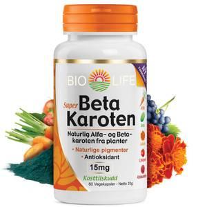 Bilde av Bio-Life betakaroten 15 mg. 60 kapsler