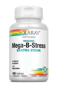 Bilde av Solaray mega B-stress ekstra sterk 120 kapsler