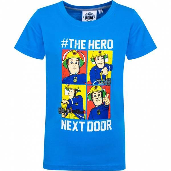 T-skjorte - Brannmann Sam - The hero next door - Blå
