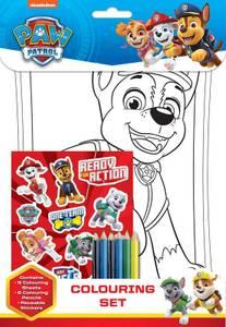 Bilde av 8pk tegneark, klistremerker og farger - Paw