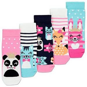Bilde av 5pk sokker - Panda, Katt, Kanin og Rev