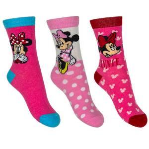 Bilde av 3pk sokker - Minnie Mus - Rosa