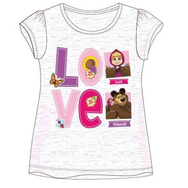 T-skjorte - Masha og Mishka - Grå