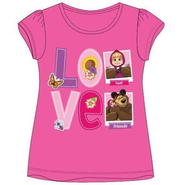 T-skjorte - Masha og Mishka - Rosa