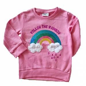 Bilde av Sweatshirt med paljetter - Follow the rainbow