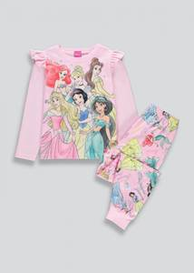 Bilde av Myk fleecepysjamas med rysjer - Disneyprinsesser