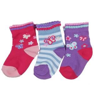 Bilde av 3pk sokker - Sommerfugl og blomster