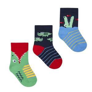 Bilde av 3pk sokker - Krokodille