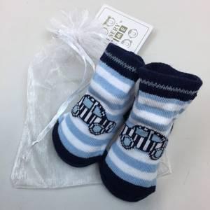Bilde av Sokker i gavepose - Bil og striper