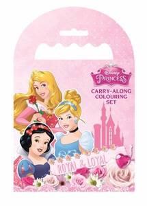 Bilde av Tegnebok og farger - Disneyprinsesser