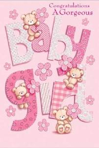 Bilde av Kort - Congratulations A Gorgeous Baby Girl