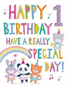 Bilde av Bursdagskort - Happy 1 Birthday