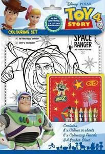 Bilde av 8pk tegneark, klistremerker og farger - Toy Story