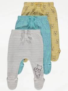 Bilde av 3pk myke bukser med fot - Ole Brumm