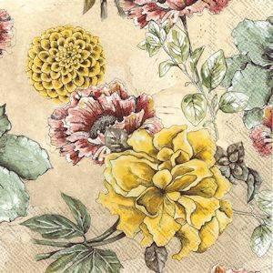 Bilde av Blossom tale cream servietter lunch