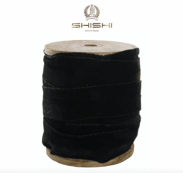 Shishi Fløyelsbånd Sort 5 cm (Pris pr meter)