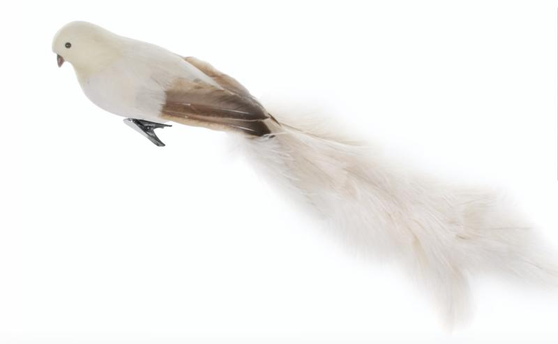Shishi Fugl på klype Hvit