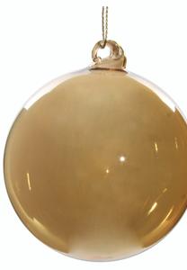 Bilde av Shishi Julekule gjennomsiktig brun/gull