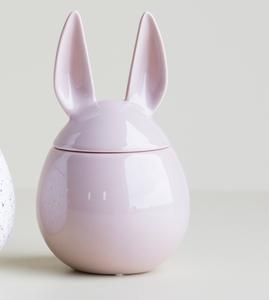 Bilde av Eating rabbit dusty pink H:14cm