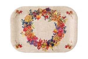 Bilde av Ihr lite snacksfat Autumn wreath linen