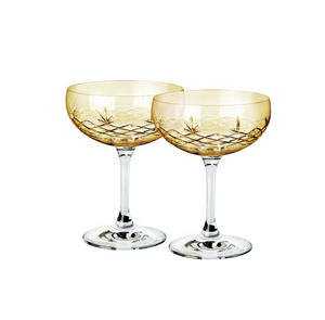 Bilde av 2 stk Champagneglass Gatsby Citrine