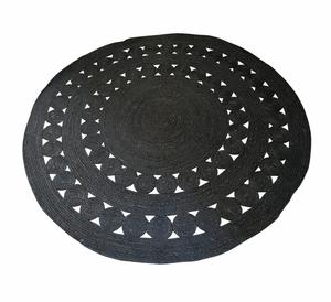 Bilde av Jute teppe svart 150cm