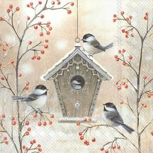 Bilde av Beautiful birdhouse servietter kaffe