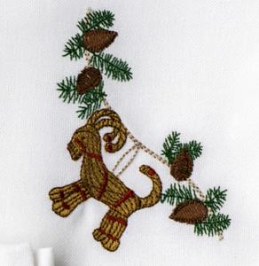 Bilde av Juleserviett med julebukk