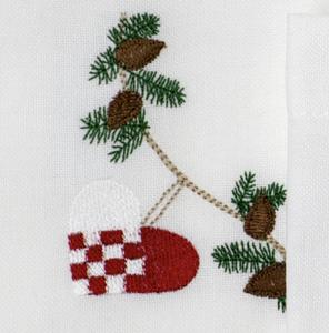 Bilde av Juleserviett med julehjerte