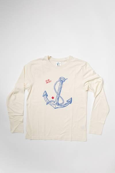 Off-white langermet t-skjorte, ankermotiv